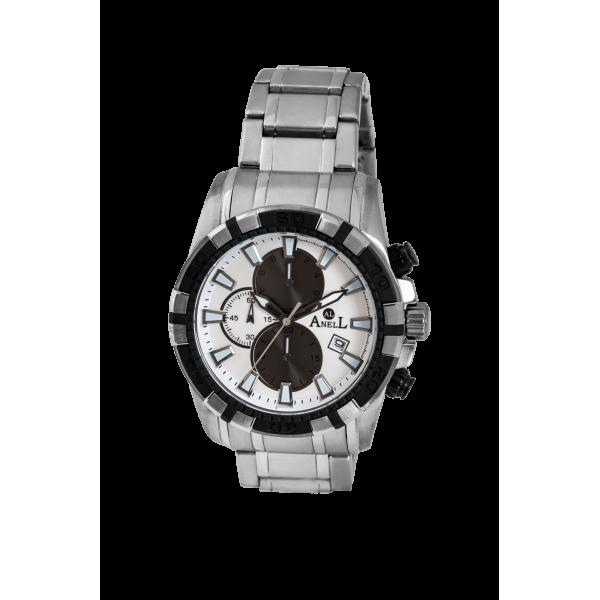 Ρολόι Anell 1T97GB_VA Χρονογράφος Ασημί Μπρασελέ