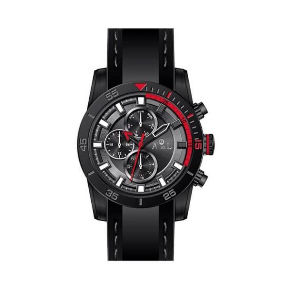 Ρολόι Anell 1UO5G_VC Πολλαπλών Ενδείξεων Κόκκινο Μαύρο Καουτσούκ Λουράκι