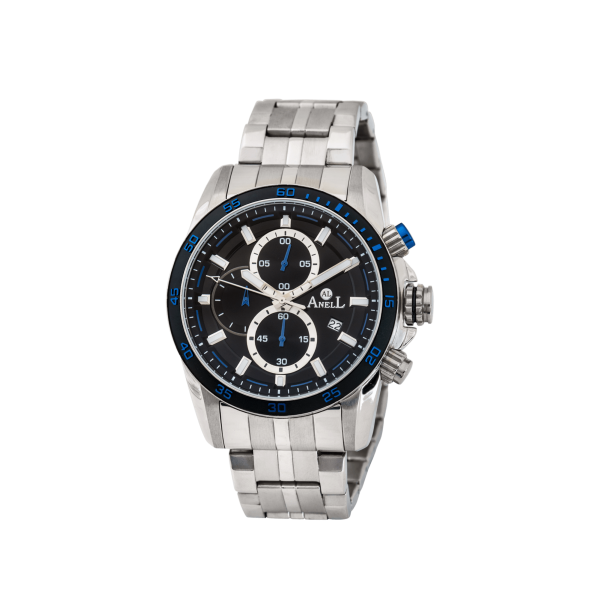 Ρολόι Anell 1W95GB_VB Χρονογράφος Μπλέ Μπρασελέ