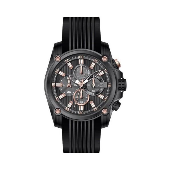 Ρολόι Anell 1X02G_VC Χρονογράφος Μαύρος Ρίγες
