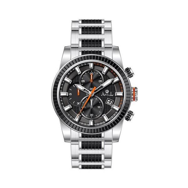 Ρολόι Anell 1U02GB_VA Χρονογράφος Πορτοκαλί Μπρασελέ