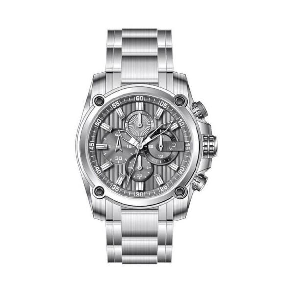 Ρολόι Anell 1X02GB_VB Χρονογράφος Γκρί Ρίγες Μπρασελέ