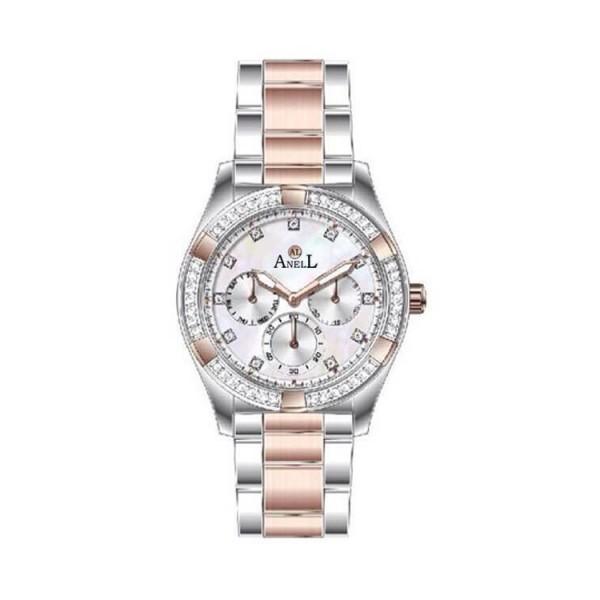 Ρολόι Anell 1K53FB_VB Πολλαπλών Ενδείξεων Ροζ Χρυσό Μπρασελέ