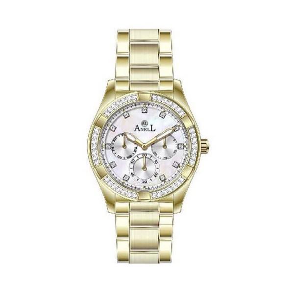 Ρολόι Anell 1K53FB_VA Πολλαπλών Ενδείξεων Χρυσό Μπρασελέ