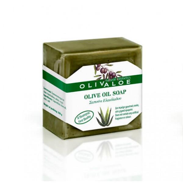 Σαπούνι Ελαιόλαδου OliveALOE 00196 Παραδοσιακό Χειροποίητο