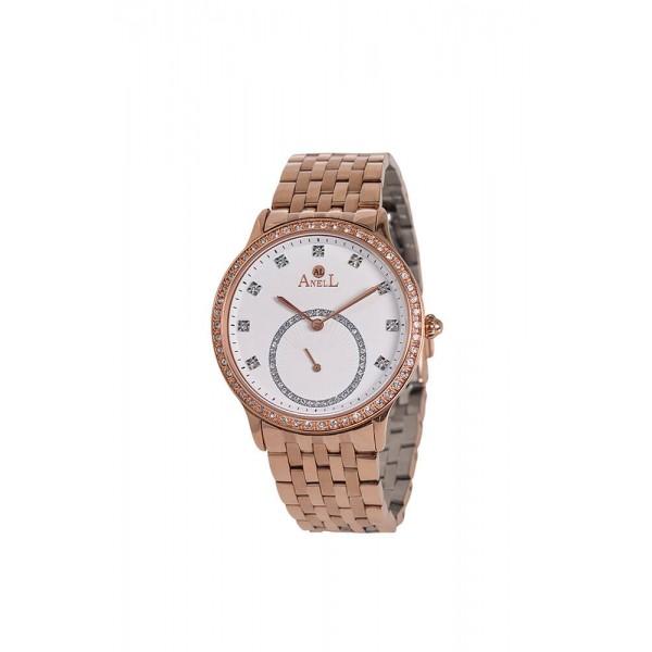 Ρολόι Anell 1D79FB_VB Χρονογράφος Ροζ Χρυσό Μπρασελέ