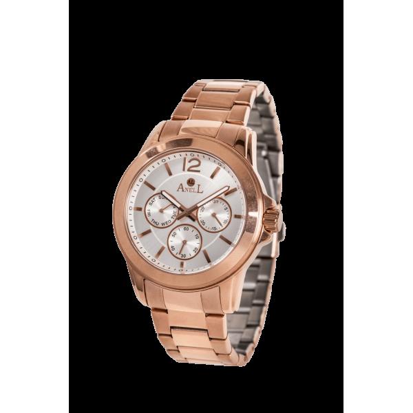 Ρολόι Anell 1G70FB_VE Πολλαπλών Ενδείξεων Ροζ Χρυσό Μπρασελέ
