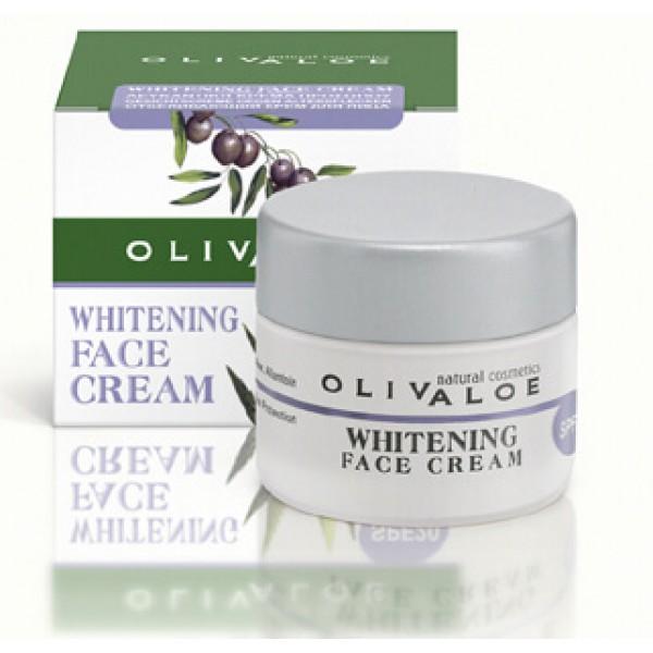 Λευκαντική Κρέμα προσώπου OliveALOE 00137 Αντηλιακή Προστασία