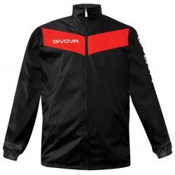 Αδιάβροχο Ανδρικό Μπουφάν GIVOVA BLACK RED f0e4627207b