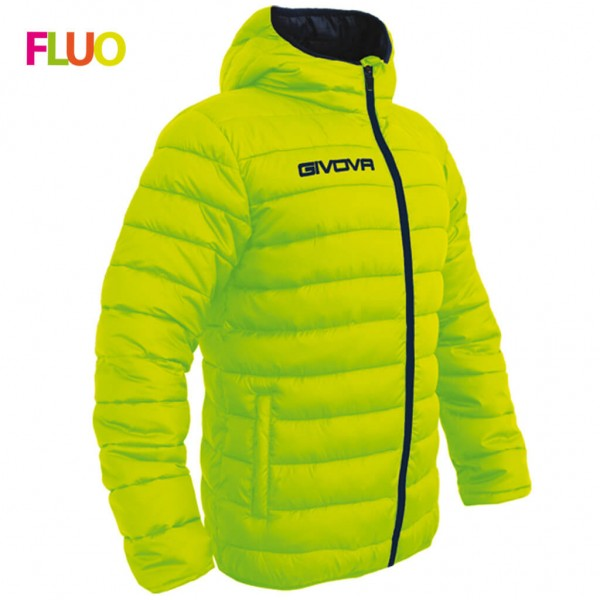 Unisex Μπουφάν GIVOVA OLANDA YELLOW FLUO/BLACK