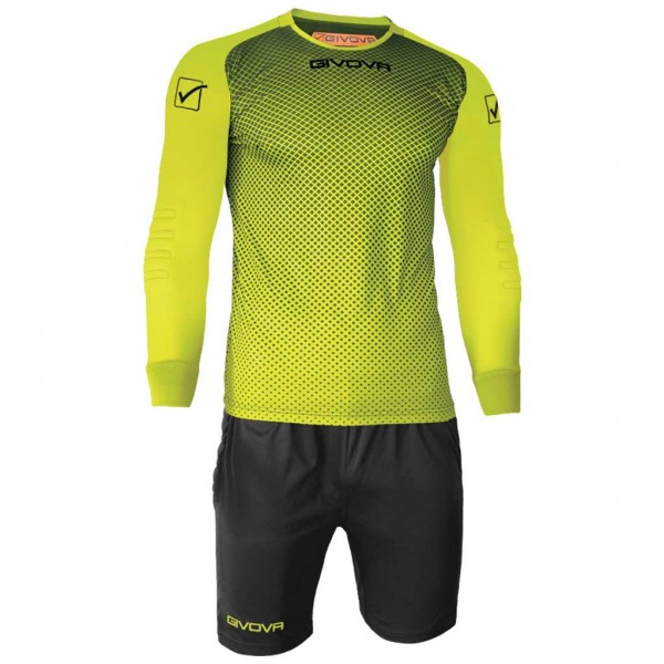 Εμφάνιση Τερματοφύλακα GIVOVA KIT MANCHESTER PORTIERE LIGHT YELLOW/BLACK