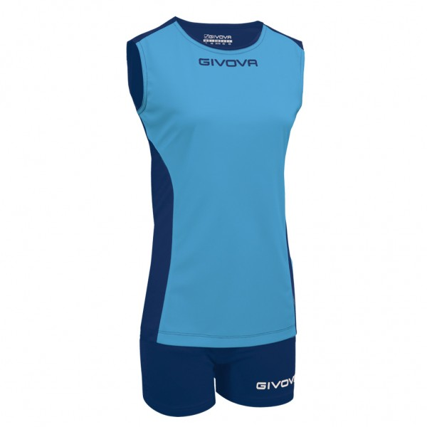 Γυναικεία Εμφάνιση GIVOVA KIT VOLLEY PIPER LIGHT BLUE/BLUE