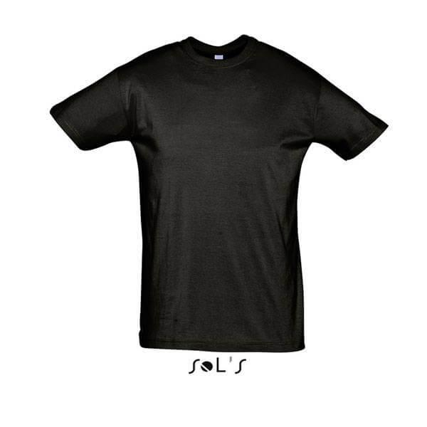 Μακό Μπλουζάκι SOL'S REGENT DEEP BLACK
