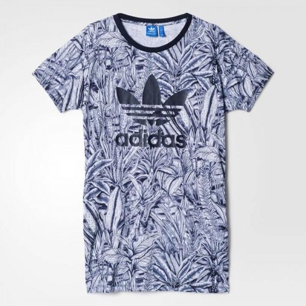 Γυναικείο Μπλουζάκι-Φόρεμα Adidas Flore Tee Dress AB1996