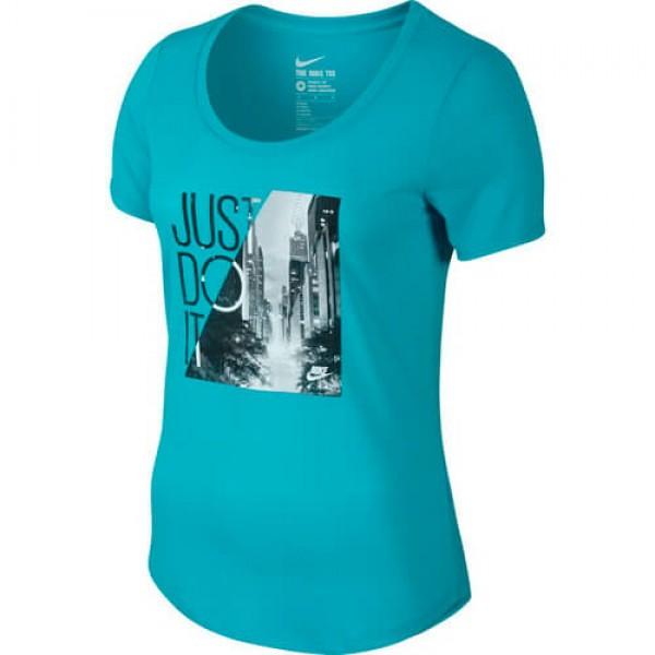 Γυναικείο Μπλουζάκι NIKE TEE SCOOP PHOTO JDI 779177-418
