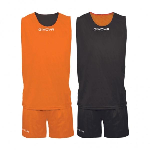 Αθλητική Εμφάνιση GIVOVA KIT DOUBLE ARANCIO/NERO